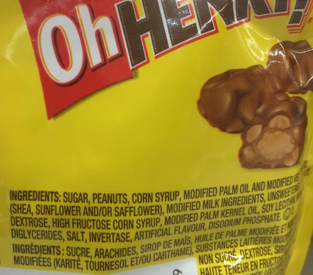 chocolate bar ingrediants
